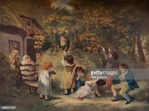 Artist Edward Dayes 'Children Nutting' circa 1783 After George Morland From The Connoisseur Volume L [The Connoisseur Ltd London 1918]