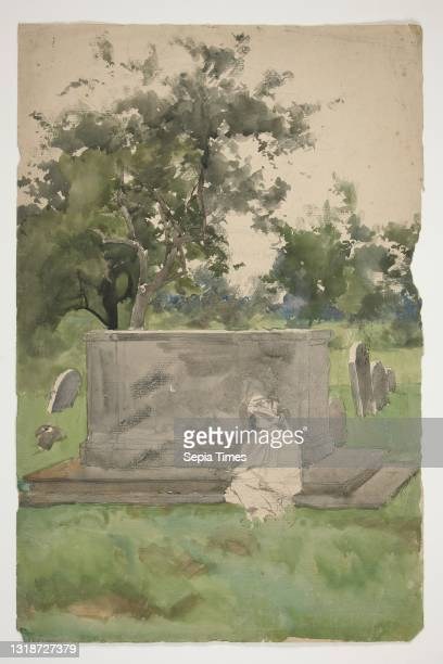 Edwin Austin Abbey, American, 1852–1911, M.A. Sketch for The Vicar, from The Quiet Life , Watercolor and graphite, 46.1 × 30.2 cm , Made in United...