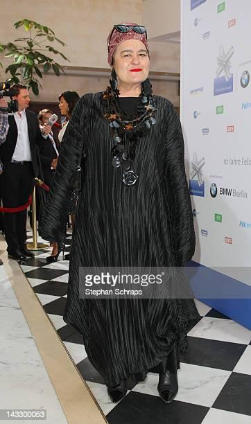 Artist Elvira Bach attends the award ceremony of the 'Felix Burda Award' at the Hotel Adlon Unter den Linden on April 22 2012 in Berlin Germany