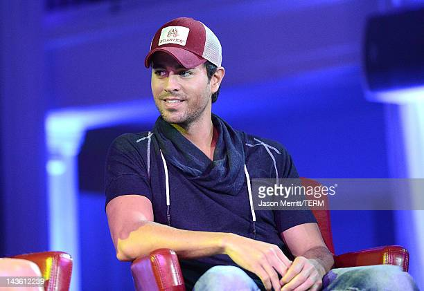 Artist Enrique Iglesias and Atlantico Rum celebrate the upcoming Enrique Iglesias Jennifer Lopez and Wisin Yandel Tour at Boulevard3 on April 30 2012...