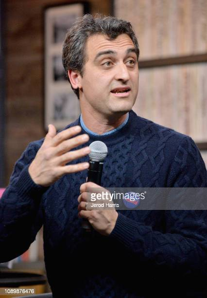 Artist Eric Gottesman speaks during the Can Art Save Democracy Panel during the 2019 Sundance Film Festival at Filmmaker Lodge on January 26 2019 in...