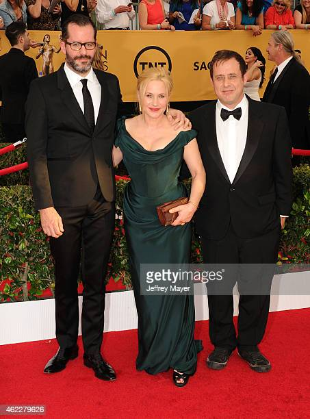 Artist Eric White actors Patricia Arquette and Richmond Arquette arrive at the 21st Annual Screen Actors Guild Awards at The Shrine Auditorium on...