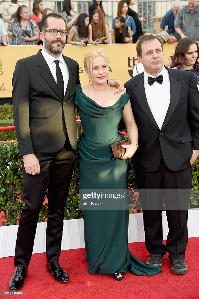 Artist Eric White, actors Patricia Arquette and Richmond Arquette attend the 21st Annual Screen Actors Guild Awards at The Shrine Auditorium on January 25, 2015 in Los Angeles, California.