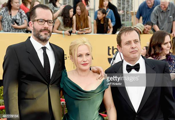 Artist Eric White actors Patricia Arquette and Richmond Arquette attend the 21st Annual Screen Actors Guild Awards at The Shrine Auditorium on...