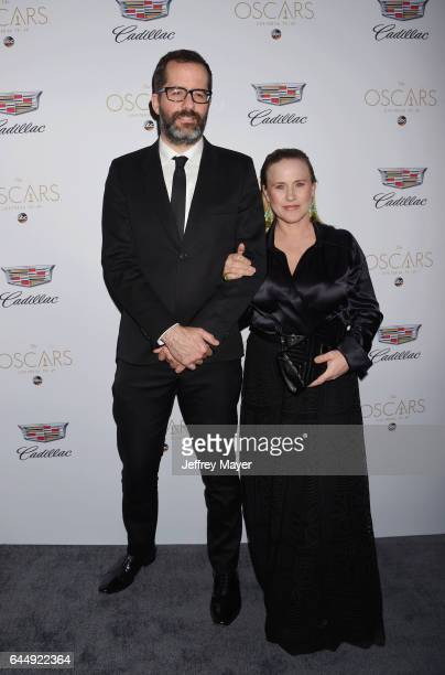Artist Eric White and actress Patricia Arquette attend Cadillac's 89th annual Academy Awards celebration at Chateau Marmont on February 23 2017 in...