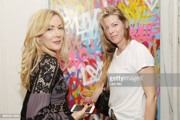 Artist Erika Horwitz and Artist MJ Laberge attend the GOOD LUCK AMERICA Secret Charity Event to Benefit Art Start at Good Luck Brooklyn Gallery on...