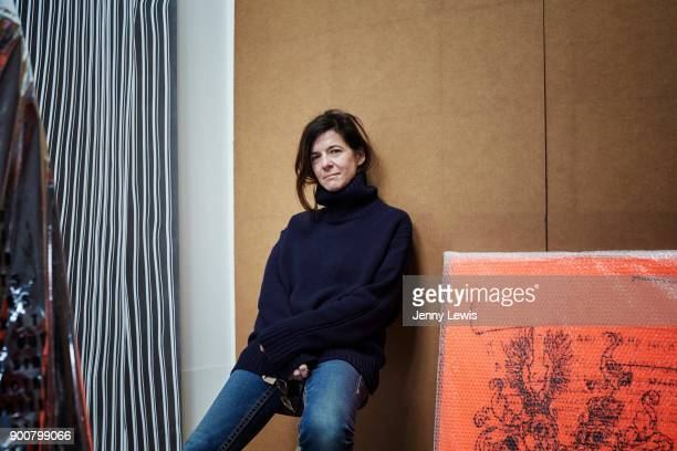 Artist Fiona Banner is photographed in her studio on September 11, 2014 in Hackney, East London, England.
