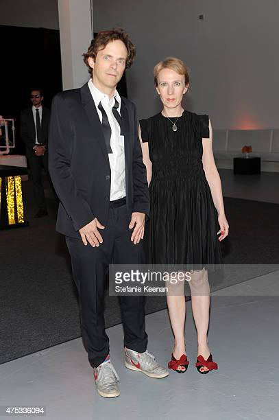 LOS Artist Florian MaierAichen and Stephanie Hin attend the 2015 MOCA Gala presented by Louis Vuitton at The Geffen Contemporary at MOCA on May 30...