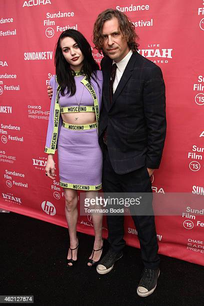 Artist Frances Bean Cobain and director Brett Morgen attend the HBO documentary films Kurt Cobain Montage of Heck Sundance premiere on January 24...