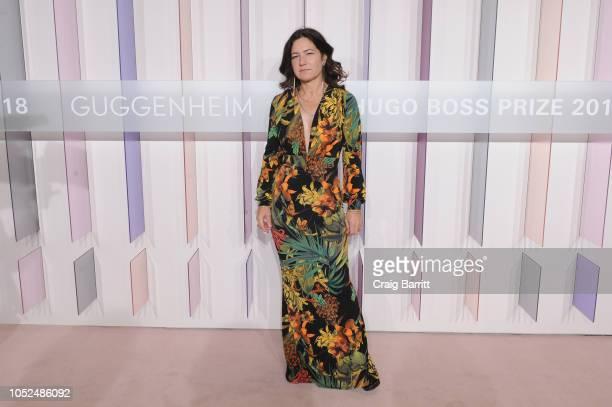 Artist Frances Stark attends the Hugo Boss Prize 2018 Artists Dinner at the Guggenheim Museum on October 18 2018 in New York City