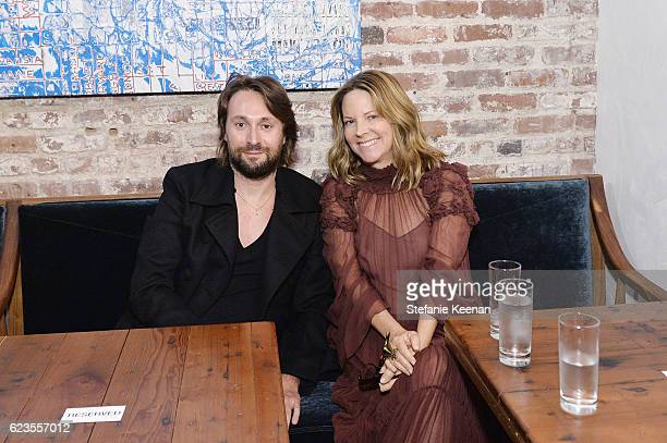 Artist Francesco Vezzoli and Maria Bell attend the premiere of 'Past Forward' a movie by David O Russell presented by Prada on November 15 2016 at...
