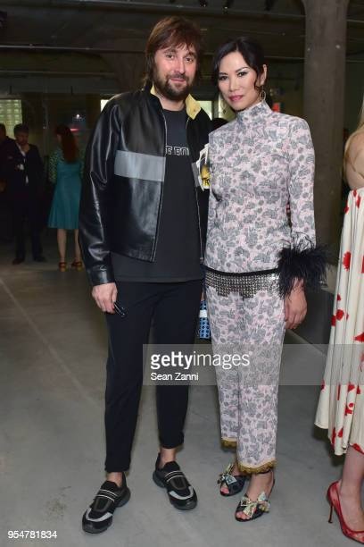 Artist Francesco Vezzoli and Wendy Murdoch attend the Prada Resort 2019 fashion show on May 4 2018 in New York City