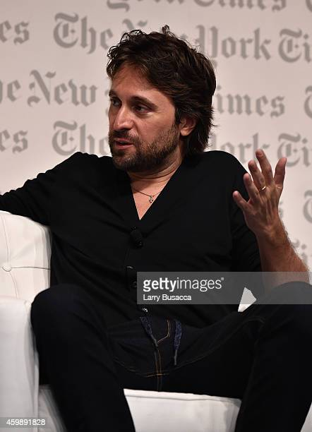 Artist Francesco Vezzoli speaks onstage at the The New York Times International Luxury Conference at Mandarin Oriental on December 3 2014 in Miami...