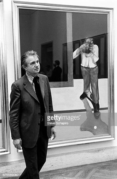 Artist Francis Bacon during his oneman exhibition at the New York Metropolitan Museum of Art