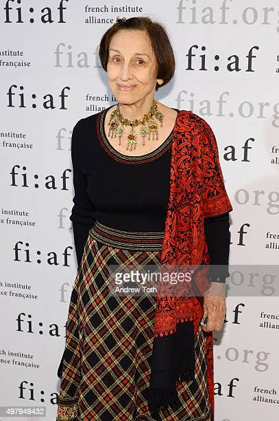 Artist Francoise Gilot attends the 2015 Trophee Des Arts gala at The Plaza Hotel on November 19 2015 in New York City