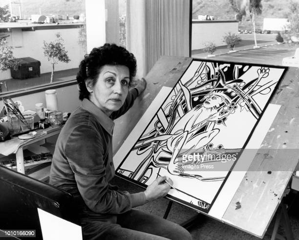Artist Francoise Gilot circa 1982 in New York City