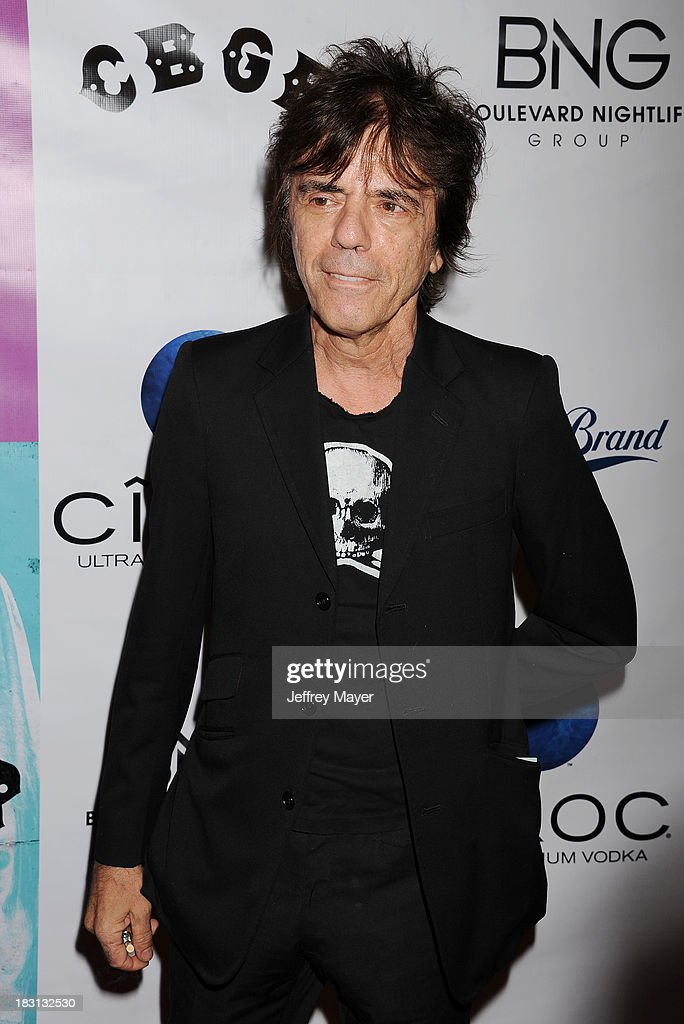 Artist Frank Infante arrives at the 'CBGB' Special Screening at ArcLight Cinemas on October 1, 2013 in Hollywood, California.
