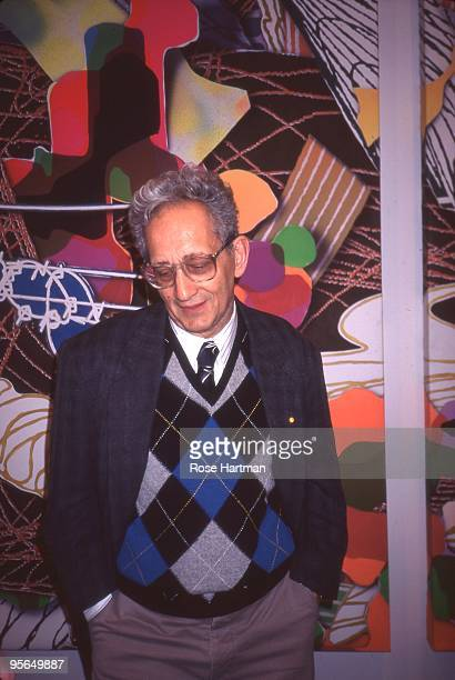 Artist Frank Stella at his opening at the Castelli Gallery in circa 1995 in New York City New York