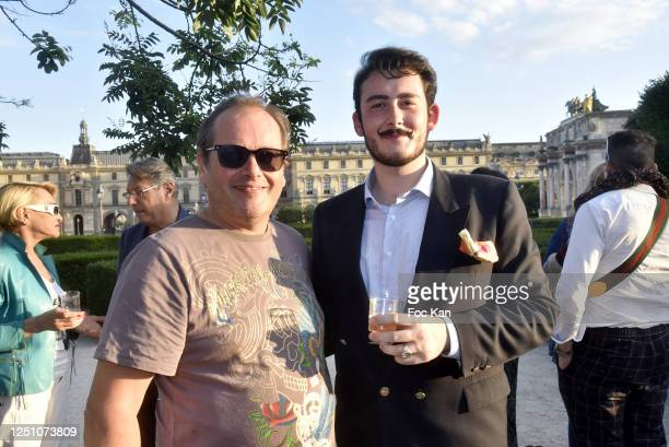 Artist Frederic Clopet de Grovestins and Art Dealer/pianist Valentin Cavaille de Nogaret attend Valentin Cavaillé de Nogaret Birthday Party at Jardin...