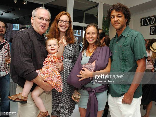 Artist Freedom Elsa Cora and Daze with family attend the Down By Law New York's Underground Explosion art exhibition opening reception at the Eric...