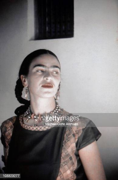 Artist Frida Kahlo Poses For A Portrait At The Home And