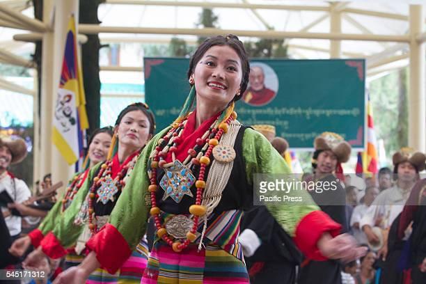 Artist from TIPA performing culture program to celebrate the 81st birthday of Tibetan spiritual leader the 14th Dalai Lama at Tsugla Khang Temple...