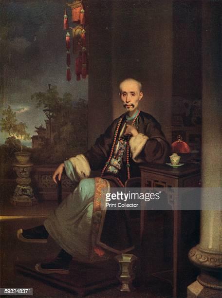 Artist George Chinnery 'How Qua Head of the Hong Merchants in Canton' circa 1830 Howqua the most important of the Hong merchants in the Thirteen...
