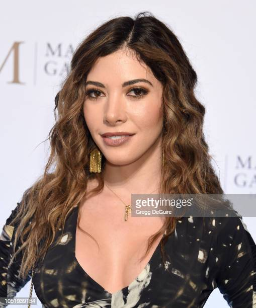 Artist Gilda Garza attends the VIP Opening of Maddox Gallery Exhibition Best Of British at Maddox Gallery on October 11 2018 in Los Angeles California