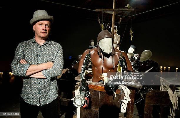 Artist Giles Walker attends the Corey Helford Gallery Presents Giles Walker's 'The Last Supper' at Corey Helford Gallery on September 7 2012 in...