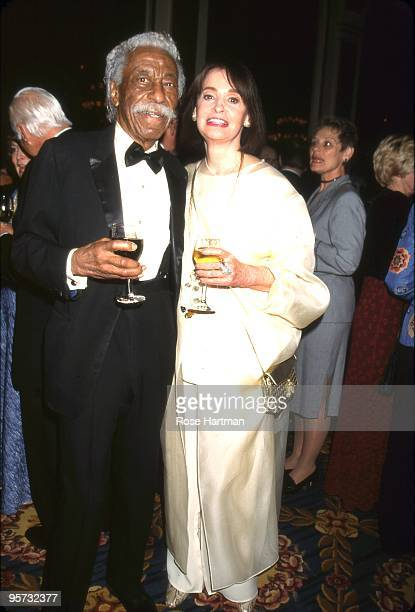 Artist Gordon Parks designer Gloria Vanderbilt at a gala at the Plaza Hotel in 2000 in New York City New York