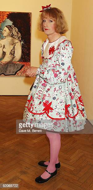 Artist Grayson Perry attends the Private View for The Triumph Of Painting at the Saatchi Gallery County Hall on January 25 2005 in London Charles...