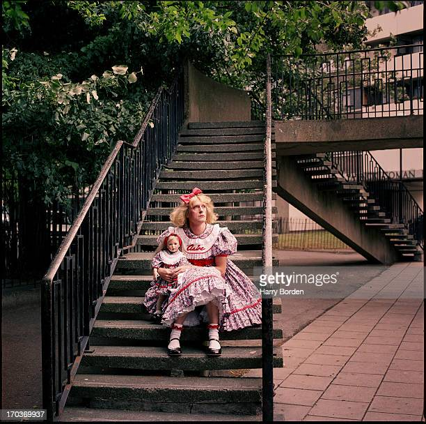 Artist Grayson Perry is photographed for the Observer on July 7, 2003 in London, England.
