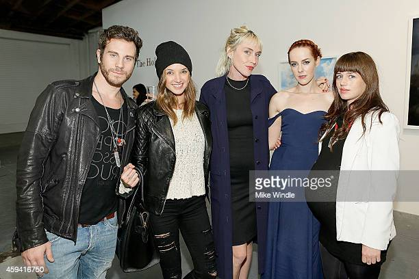 Artist Gregory Siff Alyssa Arce Director and curator of MAMA Gallery Adarsha Benjamin Actress and Photographer Jena Malone and Bethany McCarty attend...