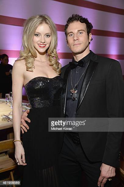 Artist Gregory Siff and guest attend The Art of Elysium's 7th Annual HEAVEN Gala presented by MercedesBenz at Skirball Cultural Center on January 11...