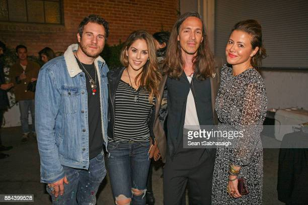 Artist Gregory Siff Brittany Palmer Brandon Boyd and Jen DiSisto pose while attending OptiMystic A Brandon Boyd Pop Up Gallery Featuring He Tasya Van...