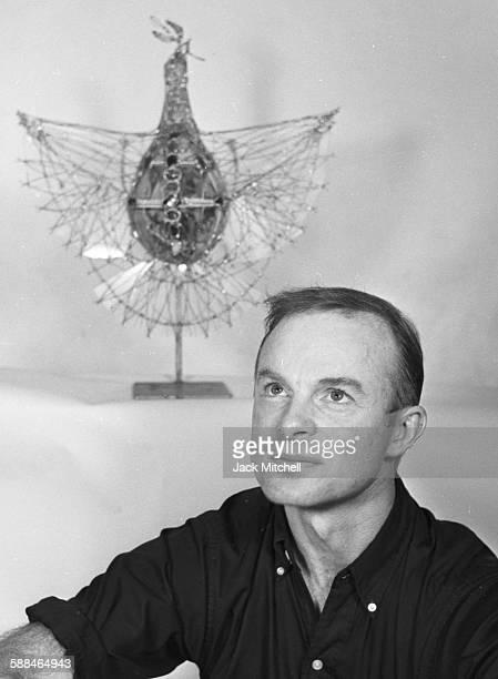 Artist Grover Hendricks, 1957.