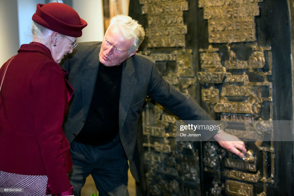 Queen Margrethe Attends The Opening Of The Art Exhibition 'The Reformation' In Copenhagen : News Photo