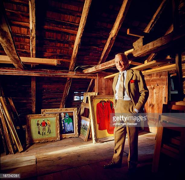 Artist Henry Koehler is photographed for Jonthan Becker's book 'Studios by the Sea' on August 29, 1999 in his attic in Southampton, New York....