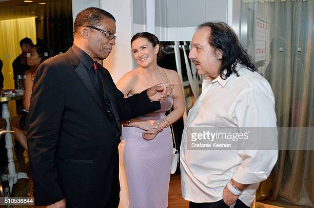 Artist Herbie Hancock and Ron Jeremy attend Red Light Management 2016 Grammy After Party Presented By Citi at Mondrian Hotel on February 15 2016 in...