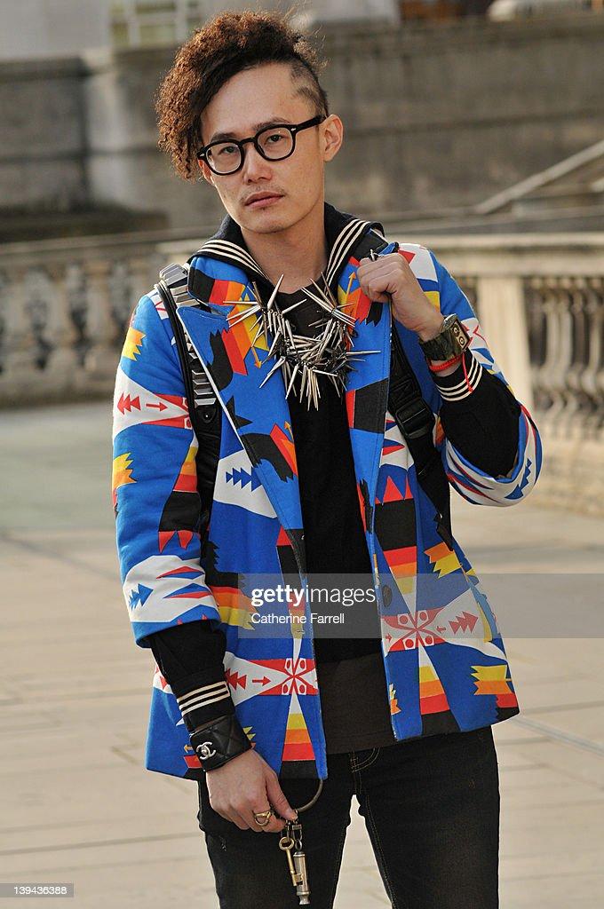London Fashion Week A/W 2012 - Street Fashion : News Photo