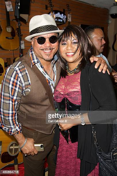 Artist Howard Hewett and Deniece Williams attend a party for Kashif & Friends for Black Music Month at Sam Ash Music Store on June 18, 2014 in...