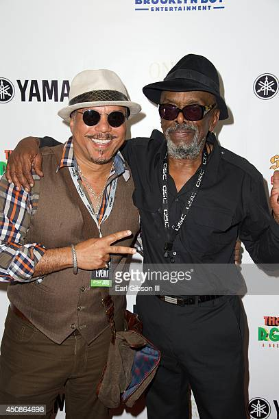 Artist Howard Hewett and Leon Ware attend an event for Kashif & Friends in celebration of Black Music Month at Sam Ash Music Store on June 18, 2014...