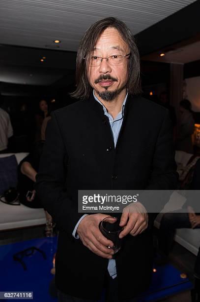 Artist Huang Rui attends 'Art Los Angeles Contemporary host committee members and collectors Joel Lubin and wife Marija Karan host ALAC 2017...
