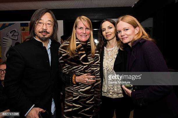 Artist Huang Rui Katie De Tilly actress Justine Bateman and guest attend 'Art Los Angeles Contemporary host committee members and collectors Joel...