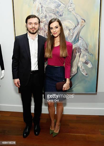 Artist Igor Bogojevic and fashion designer Ariana Rockefeller attend the opening reception to celebrate Ariana Rockefeller Fall/Winter 2014...