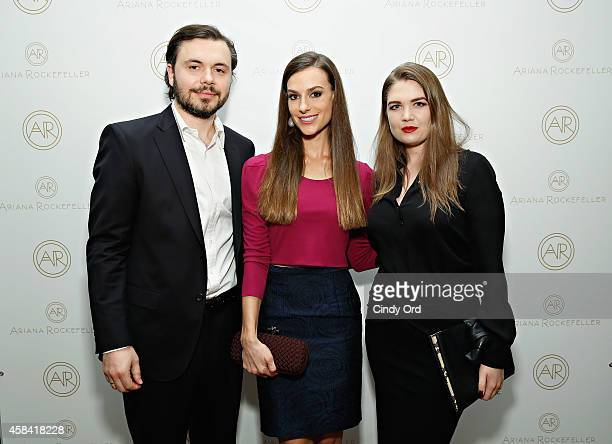 Artist Igor Bogojevic and fashion designer Ariana Rockefeller attend the opening reception to celebrate Ariana Rockefeller Fall/Winter 2014...