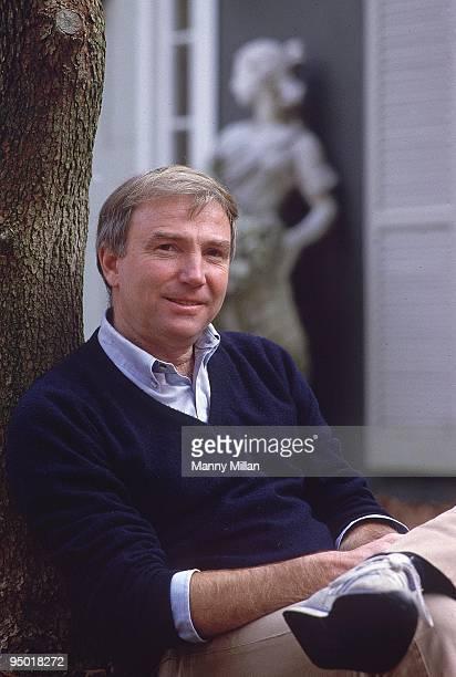 Portrait of painter Bernie Fuchs outside his studio Westport CT 11/7/1984 CREDIT Manny Millan