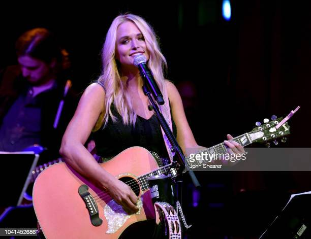 Artist in residence Miranda Lambert performs onstage for a second soldout show at the Country Music Hall of Fame and Museum on September 26 2018 in...
