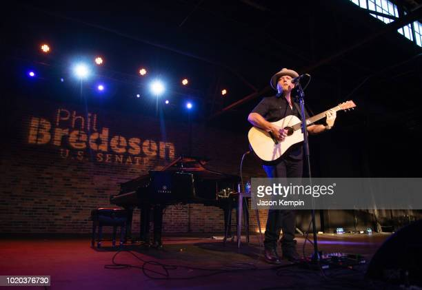 Artist Jason Isbell performs at Marathon Music Works on August 20 2018 in Nashville Tennessee