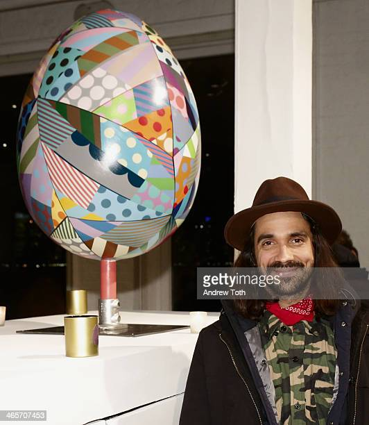 Artist Jason Woodside attends Faberge Big Egg Hunt Cocktail Countdown event on January 28 2014 in New York City New York
